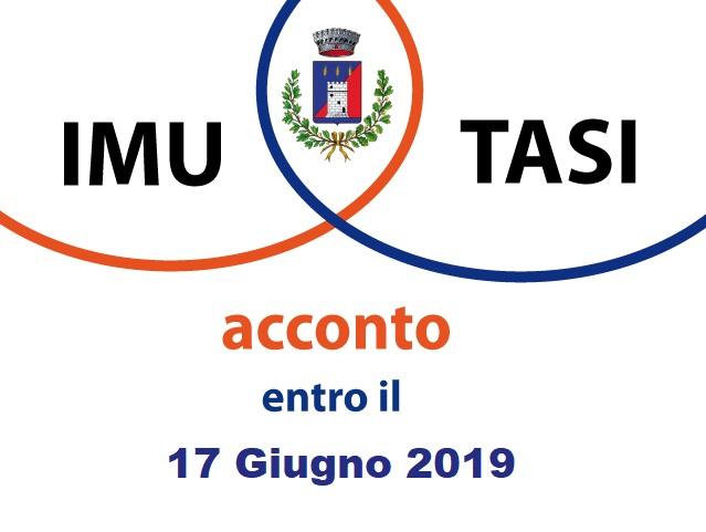Avviso Pubblico: Versamento I.M.U. e T.A.S.I. acconto 2019