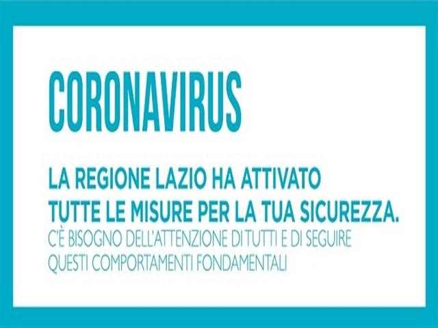 Avviso: Coronavirus Covid-19 la regione Lazio ha attivato tutte le misure per la sicurezza