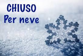 Si avvisa che l'ufficio tributi restera' chiuso in data odierna causa neve